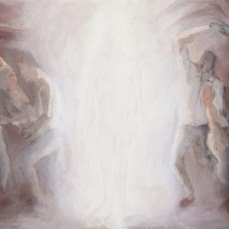 """""""Caos"""" for the song """"Where is she?"""" Acrylique sur toile / Acrylic on Canvas, env./approx. 100 x 45 cm"""