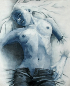 """""""Mujer Azul"""" for the song """"Kamikaze"""""""
