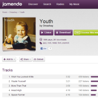 Jamendo screenshot